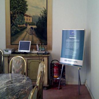 Notice board negli uffici del gruppo Cavatorta